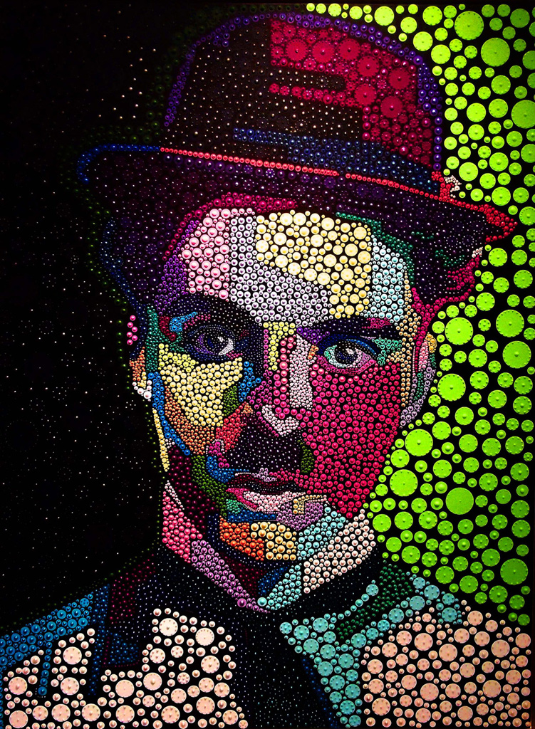 Charlie-Chaplin-acrylic-+-pigment-on-canvas-100x130cm-$7000---Copy