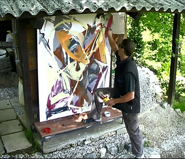 Private investigation of an abstract painting, 2004