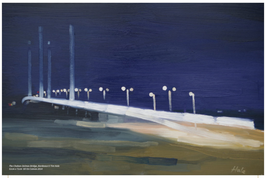 The Chaban-Delmas Bridge, Bordeaux © Tim Hale 51cm x 71cm Oil On Canvas 2014