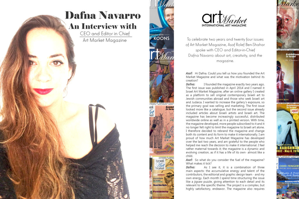 Dafna Navarro CEO&Editor in chief of Art Market Magazine