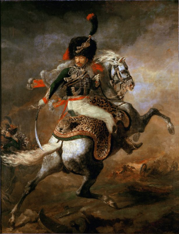 Theodore Gericault, An Officer of the Imperial Horse Guards Charging, 1812, - Military and War