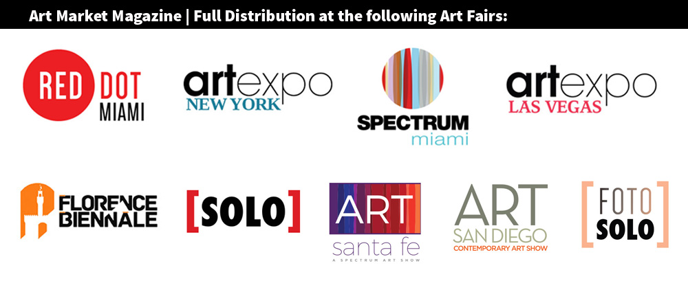Art Market Magazine official Media Partner with RMG, Full Distribution on all main Art Fairs in the U.S