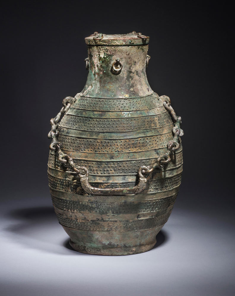 Ritual wine vessel hu Bronze Height 36.8 cm, China, early Warring States period, 5th century BC Ben Janssens Oriental Art Ltd © Chinese and Japanese works of art