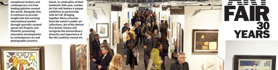 LONDON ART FAIR RETURNS FOR ITS 30TH ANNIVERSARY 17 – 21 JANUARY 2018