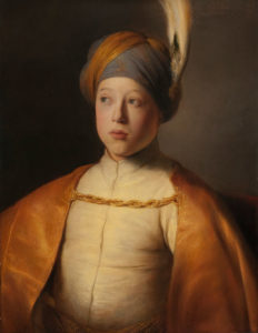 Jan Lievens (Leiden 1607 – 1674 Amsterdam) Boy in a Cape and Turban (Portrait of Prince Rupert of the Palatinate), ca. 1631 Oil on panel, 66.7 x 51.8 cm