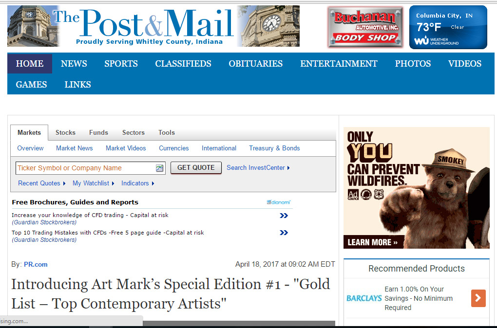 Art Market GOLD LIST on Post and Mail